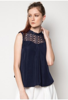 Sleeveless Top W/ Lace