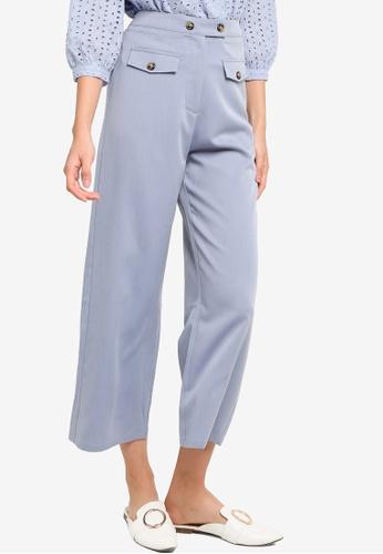ZALORA BASICS blue Front Pocket Detail Pants 93207AAD1AE29CGS_1