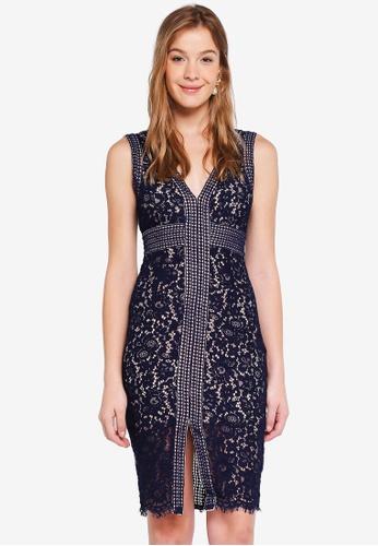 Bardot navy Morgan Lace Dress 1BA6CAA91508D4GS_1