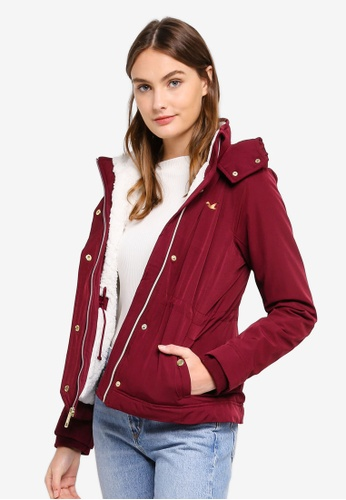 Hollister red Luxe All Weather Jacket AB061AAB412CE5GS_1