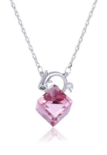 midzone pink Youth's Kate Swarovski Crystal Chain Necklace 19429ACC199B21GS_1