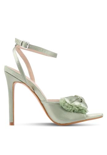 Public Desire green Eros Bow Detail Square Heels CCFFFSH7BD4F85GS_1