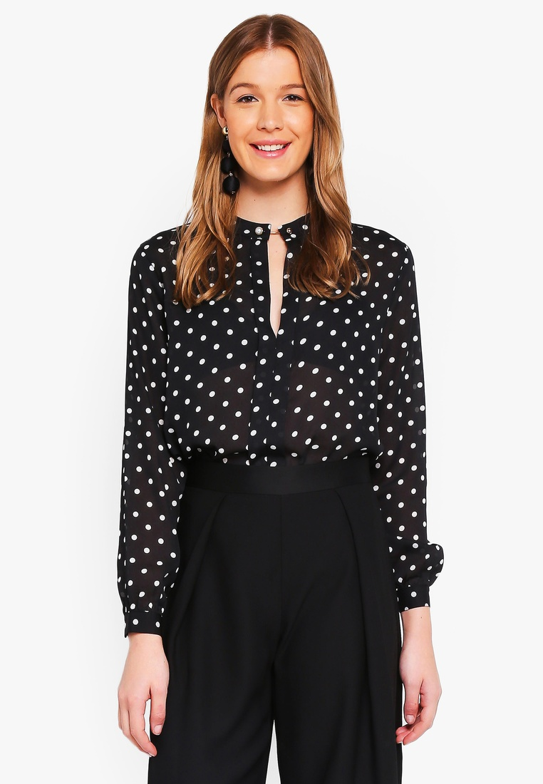 Black Angeleye Angeleye Black Polka Blouse Angeleye Dot Blouse Polka Dot Polka Dot Blouse xSSIBR