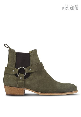 Topman green South Harness Boots TO413SH0T1JAMY_1