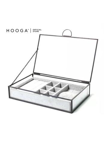 HOOGA black and grey Hooga Jewellery Box Nyhssa 5C168HLCE9BC5BGS_1
