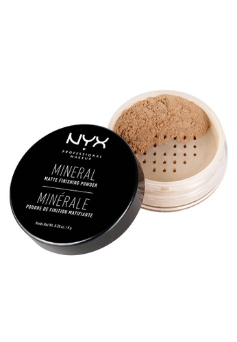 NYX Professional Makeup brown NYX Professional Makeup Mineral ''Set It & Don't Fret It'' Matte Finishing Powder - Medium/ Dark 1F5C8BE33D2365GS_1