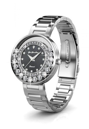 Her Jewellery black Her Jewellery Glamour Watch (Black) with Premium Grade Crystals from Austria 6A2A3ACCC8EF39GS_1