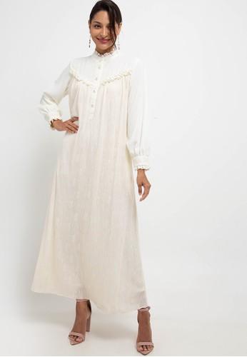 Kamilaa by Itang Yunasz beige Gamis Lace 0F223AA630B3D7GS_1