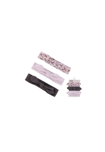 Little Kooma white and pink Hudson Baby Headwraps 3 Piece Pack 58597 - 0729 0E7E2KCFC36B69GS_1