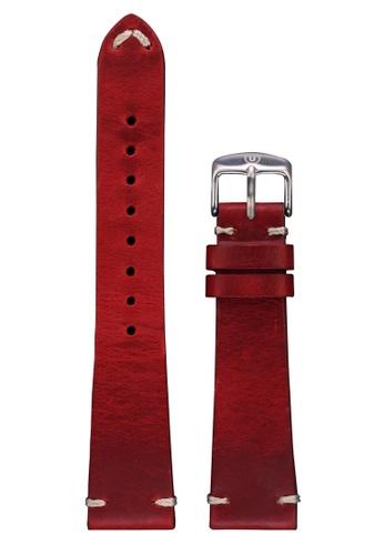 Undone red Undone Red Calf Leather Strap 20mm (Silver Buckle) UN712AC2VEJMHK_1