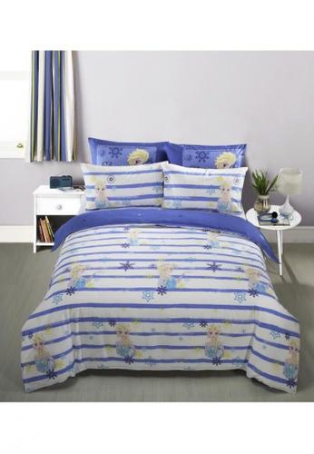 Eurotex Disney Frozen, 100% Cotton Sateen 700 Thread Count, Fitted Bedsheet Set - Summer Chill B. 51CAAHL7C289B8GS_1