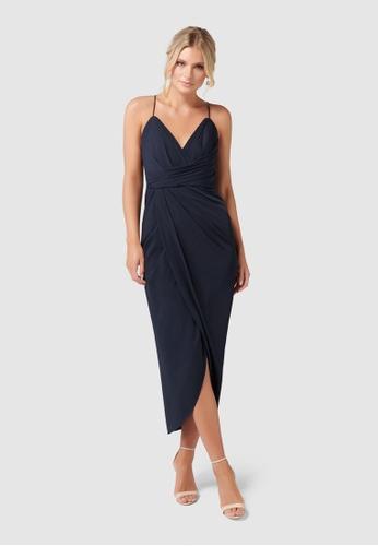 b611d895fa5 Buy Forever New Petite Charlotte Drape Maxi Dress Online on ZALORA Singapore
