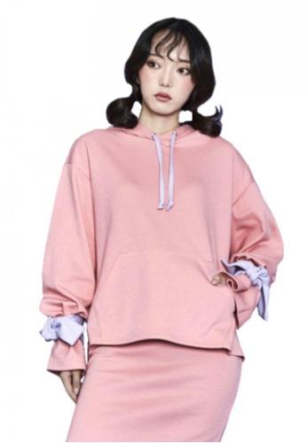 A X A pink Ribbon Hood T Shirt AX230AA69CDQSG_1