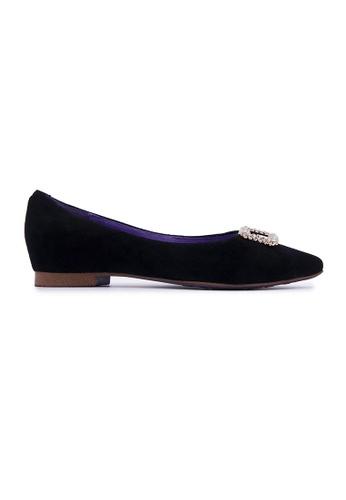 Flatss & Heelss by Rad Russel black Shiny Embellished Flats - Black BA134SHA8AB19CGS_1