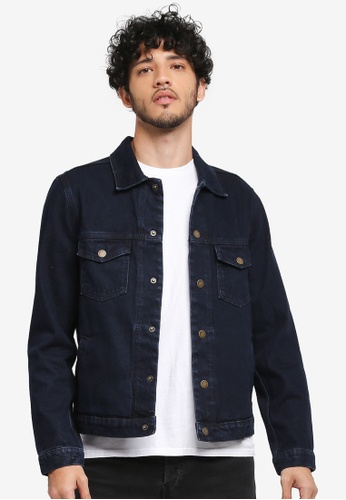 MANGO Man blue Dark Wash Denim Jacket 36041AA738F61EGS_1