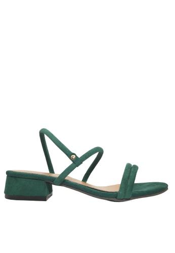 Twenty Eight Shoes 綠色 兩種穿著方式的搭帶矮跟鞋 VS1297 BA7A9SH59DC7DEGS_1