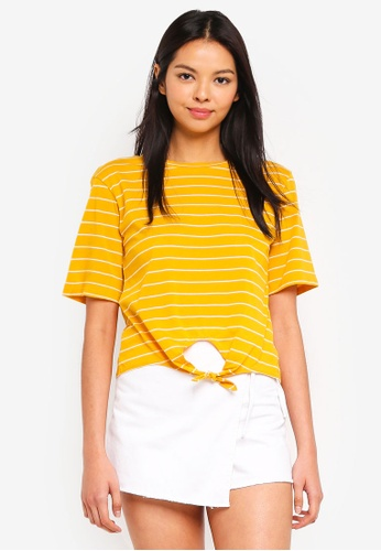 615ceea67575 Buy 6IXTY8IGHT Striped Knot Front T-Shirt Online on ZALORA Singapore