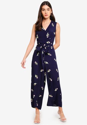 207597c624a Buy WAREHOUSE Tulip Print Jumpsuit Online on ZALORA Singapore