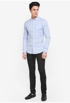 Topman Muscle Fit Oxford Shirt RM 129.00. Sizes XXS XS S M L