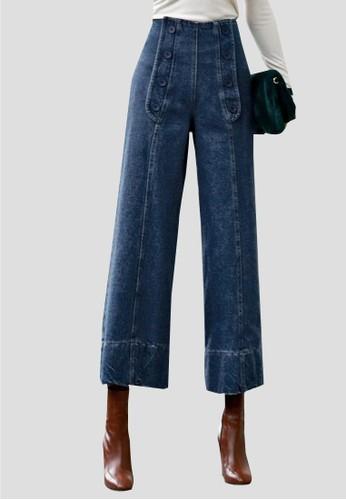前置zalora 鞋評價紐扣牛仔褲, 服飾, 多色牛仔褲