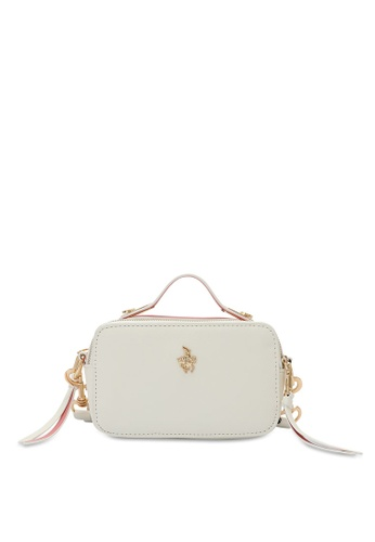 Swiss Polo 白色 Textured Sling Bag C63DEACB071FF0GS_1