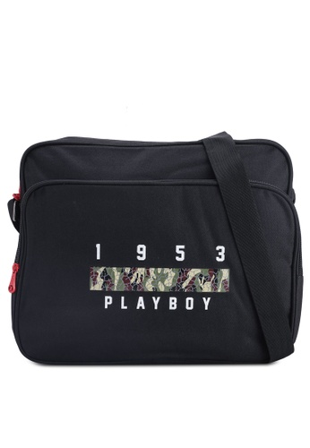 Playboy black Playboy Sling Bag FFCA2AC7E5F3E3GS_1