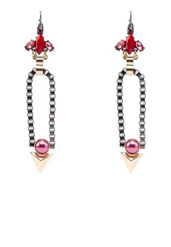 民族風珍珠錐形耳墜zalora 台灣門市, 飾品配件, 飾品配件