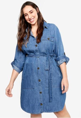 Buy Violeta by MANGO Plus Size Denim Shirt Dress Online | ZALORA ...