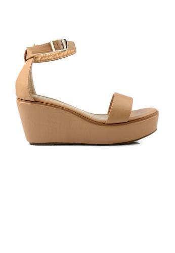 SHINE beige SHINE Open Toe Ankle Strap Buckle Wedges E8804SH64C1662GS_1