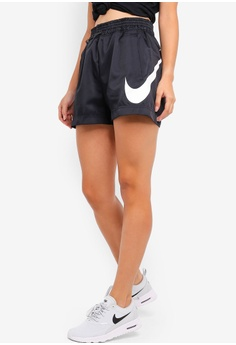 newest 95aee 84a22 Nike black As Women s Nsw Woven Swsh Shorts 3E335AAF46162EGS 1