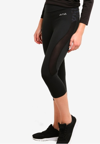AVIVA black Performance Capri Pants 527CDAA455A0A1GS_1