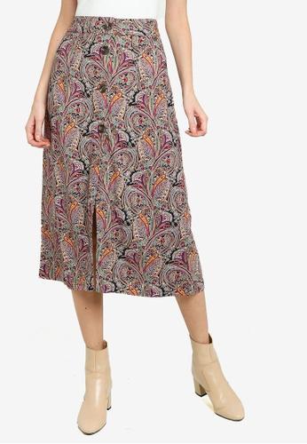 Pepe Jeans multi Carmen Printed Midi Skirt 788DFAACB21156GS_1