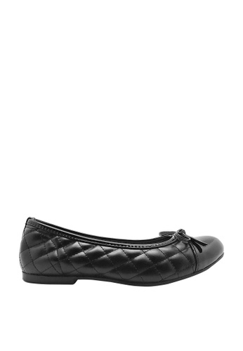CO BLANC black CO BLANC Quilted Toe Cap Ballerinas with Ribbon C33ADSH6B1250CGS_1