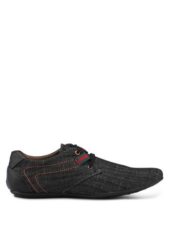 Rocklander black Denim-like Brogue Shoes 520D8SH0468B9EGS_1