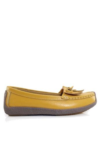 Twenty Eight Shoes 黃色 舒適流蘇真皮休閒鞋 VC1571 DD638SH3941ED3GS_1