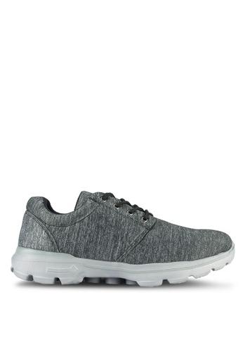UniqTee black Lightweight Elastic Knit Sport Sneakers UN097SH0RS4LMY_1
