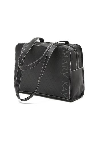 LULUGIFT black Simple MK Quilted Black Handcarry Bag LU989AC47IRSMY_1