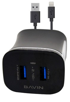 Bavin USB 2.4A Charger Adapter for iPhone 5/5S