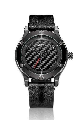 Assassin's Time black Assassin's Time MAZE Black Leather D3993AC846F1CEGS_1