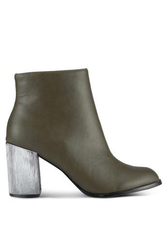 ZALORA 褐色 Chelsea Boots Metallic Heels B9D94ZZ1CAB68BGS_1