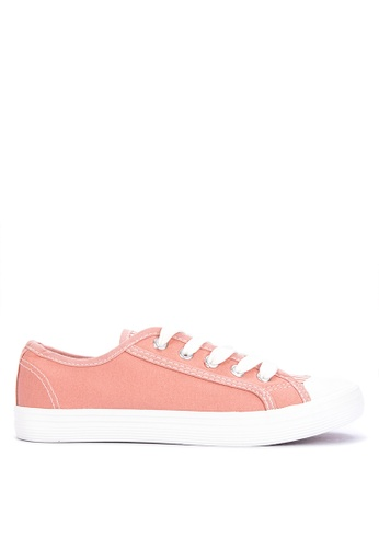 BENCH pink Casual Lace Up Sneakers A7356SHA96DC17GS_1