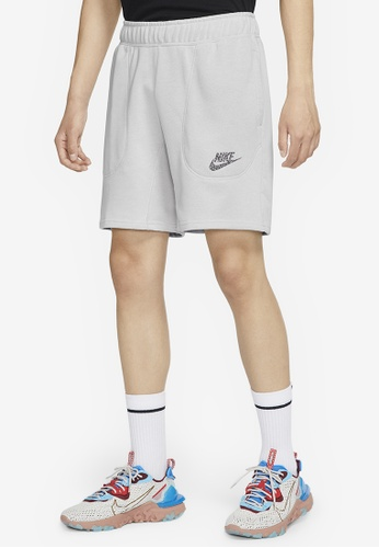 Nike white AS Men's Nike Sportswear French Terry Shorts 1D2BBAA0FAD23EGS_1