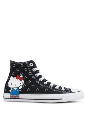 57b35e7f541a Converse black Chuck Taylor All Star 70 Hello Kitty Hi Sneakers  49EA8SHF255054GS 1