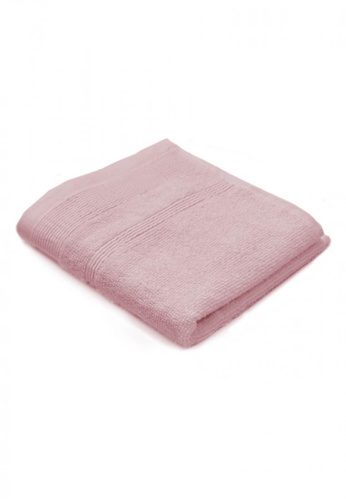 Primeo pink Premium Double Pile Pink Face Towel 540gsm Soft High Absorbent 2540BHLD2AE108GS_1