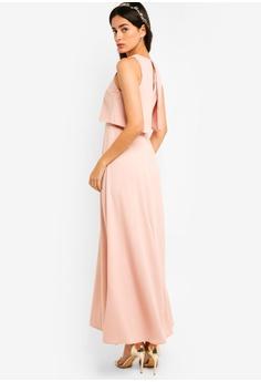 ZALORA pink Bridesmaid Double Layer Maxi Dress 30B28AA1EDB221GS 1 228e844d4