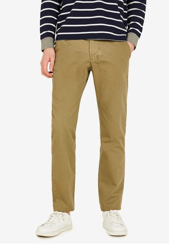 OVS green Regular Fit Chino Trousers E18ABAAA250D47GS_1