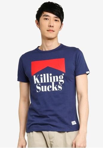 High Cultured blue Killing Sucks Tee - 660 AC8A9AA209A0A6GS_1