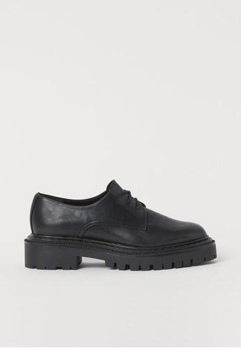 H&M black Chunky-Soled Shoes 3721FSH54C4C82GS_1
