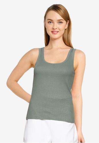 Vero Moda green Jessica Rib Tank Top 04EEEAA57AA5E3GS_1