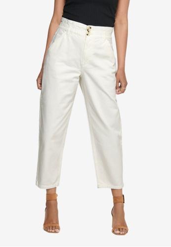 JACQUELINE DE YONG white Odel Loose Pant Pants AB5F0AA5BD1F11GS_1